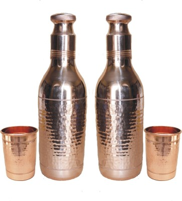 VEDA HOME & LIFESTYLE COPPER WATER BOTTLE SET 2400 ml Bottle