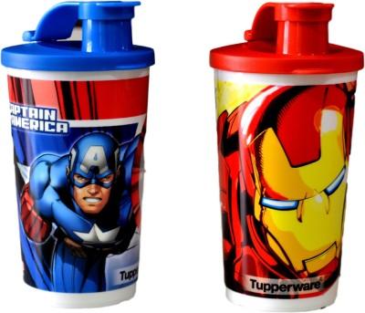 Tupperware Captain America And Iron Man Tumbler - (330ml) Set Of 2 330 ml Sipper