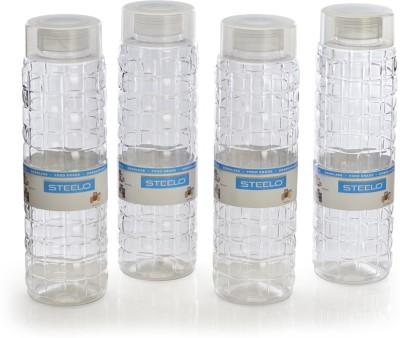Steelo 1000ml x 4 pcs Premium PET Bottle Set (Solitaire Transparent) 1000 ml Bottle
