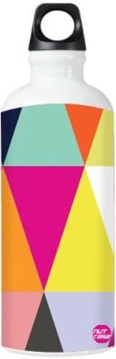 Nutcase Sticker Wrap Design - Bright Angles 800 ml Bottle