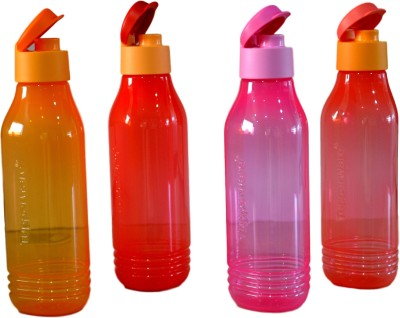Tupperware Aqua safe with Fliptop Triangular Groovy Set of 4 750 ml Bottle