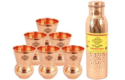 Indian art villa 1 Leak Proof Bottle 900 ML with 6 Mathat Glass 3150 ml Bottle