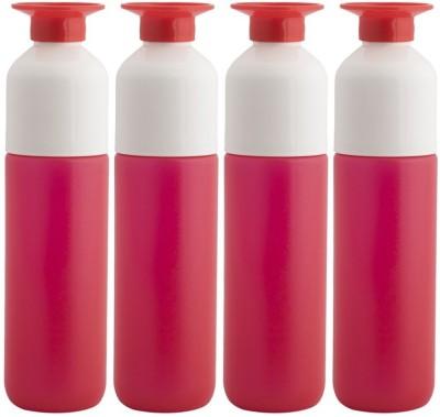 Minura Set of 4 Trendy Red Water Upside down design with inbuilt cup - H73 750 ml Bottle