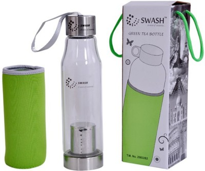 Swash Multipurpose Premium Green Tea with bottom Infuser cum Filter Glass 500 ml Bottle
