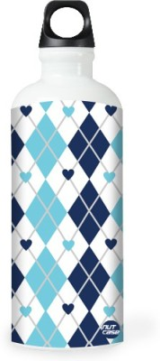 Nutcase Sticker Wrap Design - Blue And White 800 ml Bottle