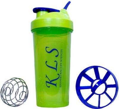 KLS Green Shaker with Steel Ball 600 ml Sipper