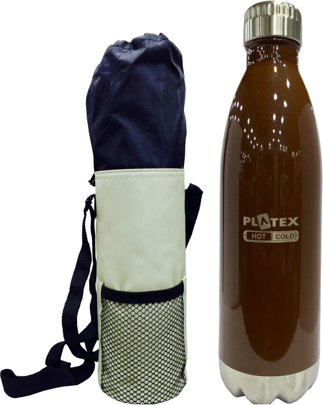 Platex Ultra 500 ml Flask(Pack of 2, Brown)