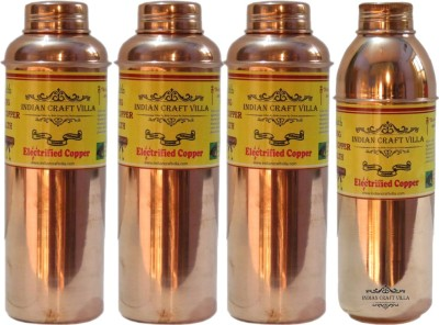 Indian Craft Villa Pure Copper Luxury Design Volume 700 ML with 3 Thermos 800 M: 3100 ml Bottle