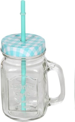 Devnow Country Style Drinking Jar Blue 473 ml Bottle