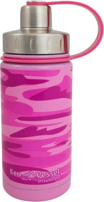 Eco Vessel Twist Triple Insulated Bottle with Screw Cap - 13 oz - Pink Camouflage 400 ml Bottle