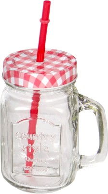 Devnow Country Style Drinking Jar Red 473 ml Bottle