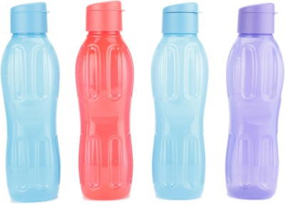 Signoraware FlipTop Aqua 1000 ml Bottle(Pack of 4, Multicolor)