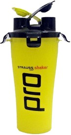 Strauss Dual Pro 700 ml Shaker, Sipper(Pack of 1, Yellow)