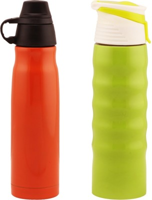 Wa.ter Hot and cold orange and green water bottles 500 ml Bottle