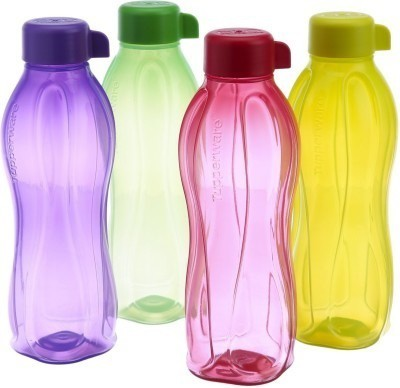 Tupperware Aqua Safe 1000 ml Bottle(Pack of 4, Yellow, Purple, Green, Red)