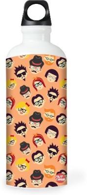 Nutcase Sticker Wrap Design - Hipster Folks 800 ml Bottle