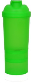 shroodax protein shaker sipper cup 500 ml Bottle(Pack of 1, Green)
