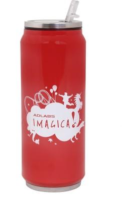 Imagica Can Silhouette Logo Nc Aluminium 500 ml Sipper(Pack of 1, Red)