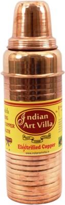 IndianArtVilla Copper Thermos Design 700 ml Bottle(Pack of 1, Brown)