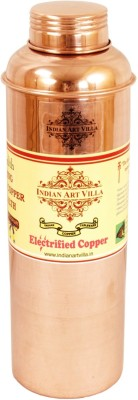 IndianArtVilla Copper Leak Proof Bisleri Design Water 800 ml Bottle(Pack of 1, Brown)