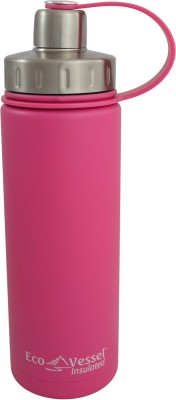 Eco Vessel Boulder Triple Insulated Bottle with Screw Cap - 20 oz - Ava pink 600 ml Bottle