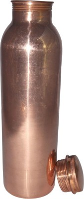 Prisha India Craft Pure Copper Water Thermos Joint Less Best Quality for Ayurvedic Health Benefits 600 ml Bottle