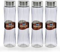 Steelo 1000ml x 4 pcs Premium PET Bottle Set (Samicas Transparent) 1000 ml Bottle(Pack of 4, Clear)