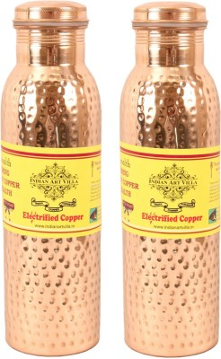 Indian art villa 2 Leak Proof Bottle 900ML each 1800 ml Bottle(Pack of 2, Brown)