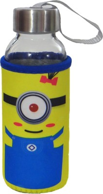 Satyam Kraft Glass Water Bottle with Thermal Sleeve and a Strap - Minion Series - Type 4 300 ml Bottle