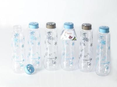 Steelo 1000ml X 6 Pcs Printed Pet Set (Conico) 1000 ml Bottle