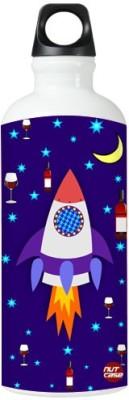 Nutcase Sticker Wrap Design - Space Rocket 800 ml Bottle