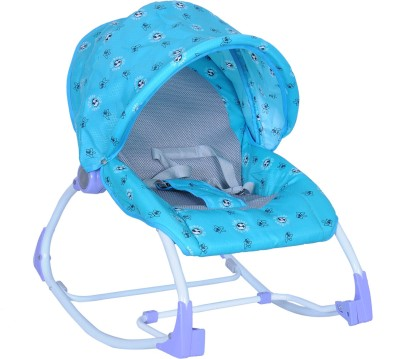 Happy Kids 2-in-1 Baby Rocker and Bouncer - Blue