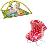 Mofaro Pink Baby Bouncer Cum Carry Cot W...