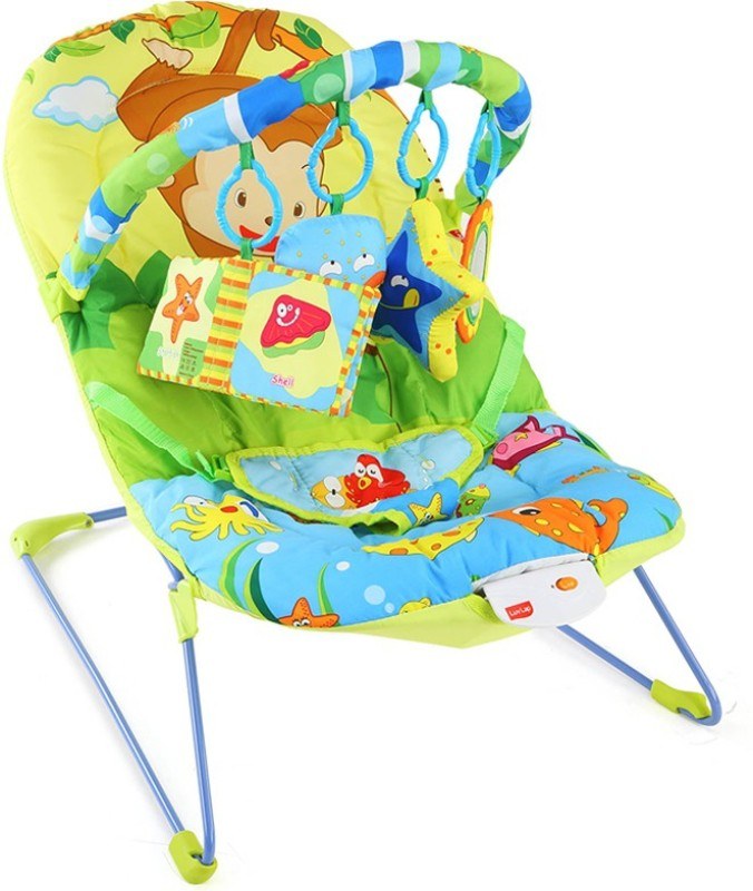 LuvLap Go Fishing Baby Bouncer(Multicolor)