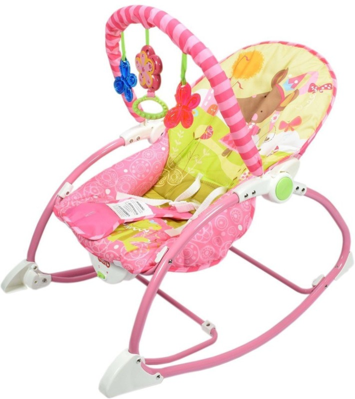 Planet of Toys Musical Newborn to Toddler Rocker(Pink)