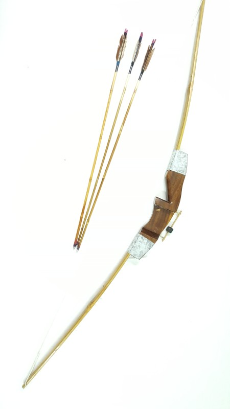 Armor 56 Inch Traditional Indian Bow Longbow(Brown)