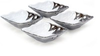 Mom Italy Silver/White 4pc Bowl Set Ceramic Bowl Set(Silver, Pack of 4) best price on Flipkart @ Rs. 910