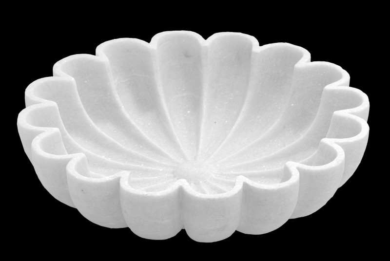 Saheli Art And Craft Marble Bowl(White, Pack of 1)