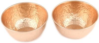Kalpaveda Copper Bowl Set(Gold, Pack of 2)