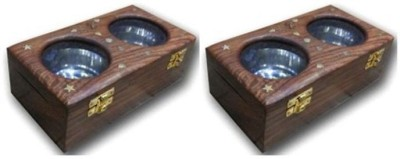 Onlineshoppee Wooden Dry Fruit Box Wooden Bowl Set