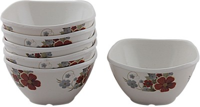 White Gold Forever Melamine Bowl Set(White, Pack of 6)