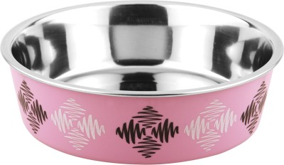Bella Bowls Stainless Steel Bowl(Pink, Pack of 1)