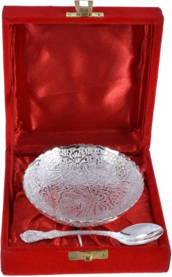 The Art Box Silver Plated Bowl Spoon Serving Set(Pack of 2)