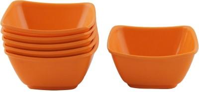 White Gold Orange Melamine Bowl Set