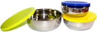 Huskey Stainless Steel Bowl Stainless Steel Bowl Set(Steel, Pack of 3)