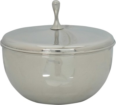 K.S Transparent stainless steel bowl Stainless Steel Bowl(Silver, Pack of 1)