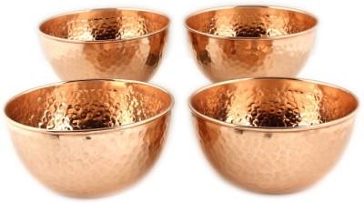Kalpaveda Copper Bowl Set(Gold, Pack of 4)