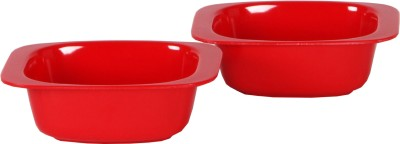 Iveo Solid Manchurian Melamine Bowl Set(Red, Pack of 2)