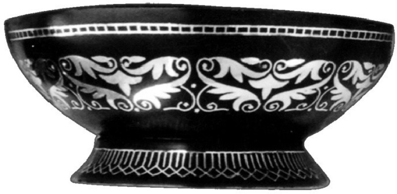 Antique Handcrafts Copper, Silver Bowl(Black, Pack of 1)