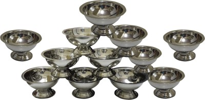 Dynore Set of 12 Ice Cream Cups Stainless Steel Bowl Set(Steel, Pack of 12) at flipkart